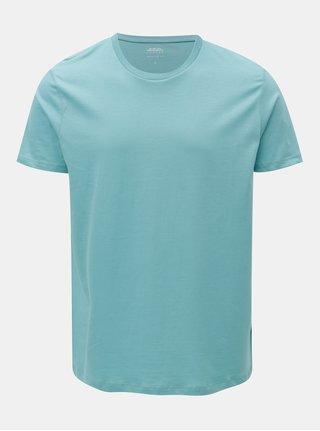 Svetlomodré basic regular fit tričko Burton Menswear London