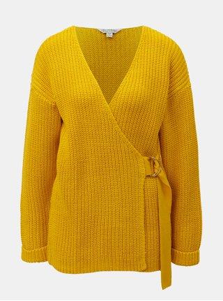 Oranžový sveter s prekladaným predným dielom Miss Selfridge