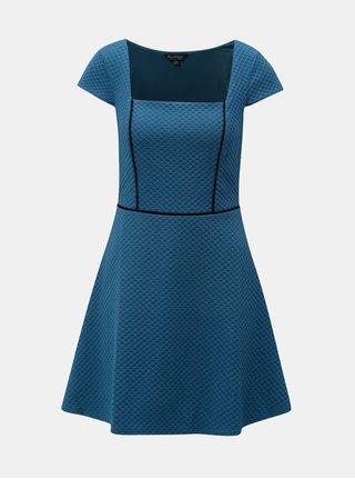 Tmavě modré strukturované šaty Miss Selfridge