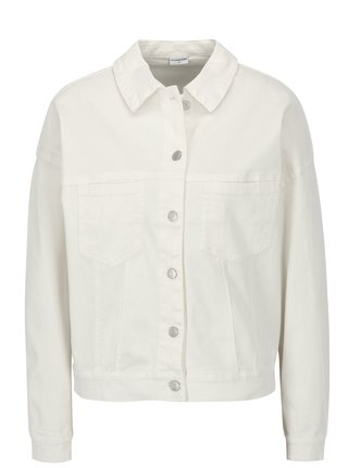 Jacheta alba oversized din denim - Jacqueline de Yong Cate Loose