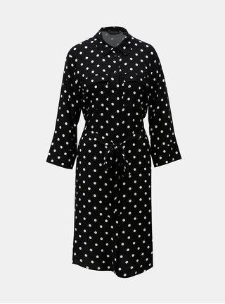 Černé košilové šaty s puntíky Dorothy Perkins
