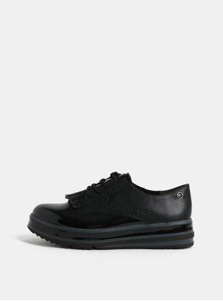 Pantofi brogue negri cu platforma Tamaris