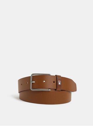 Hnědý pánský kožený pásek Tommy Hilfiger