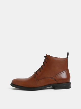 Hnědé pánské kožené kotníkové boty Vagabond Salvatore