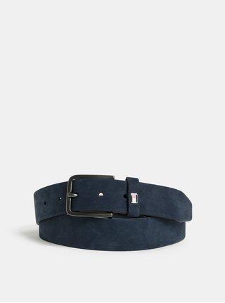 Modrý pánský kožený pásek Tommy Hilfiger
