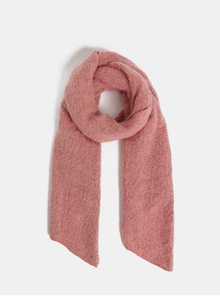 Ružový melírovaný šál Pieces Pyron
