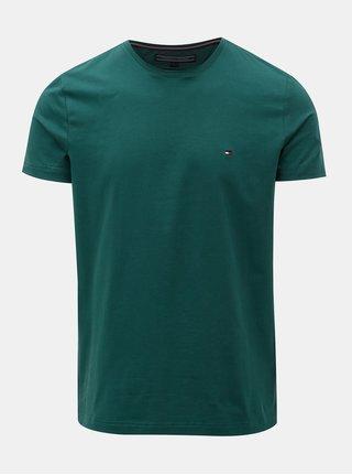Zelené pánske slim fit tričko Tommy Hilfiger