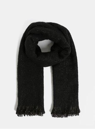 Fular negru cu fibre metalice VERO MODA Glittery