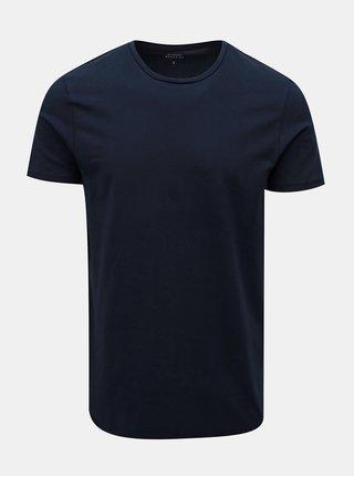 Tricou albastru inchis muscle fit Burton Menswear London