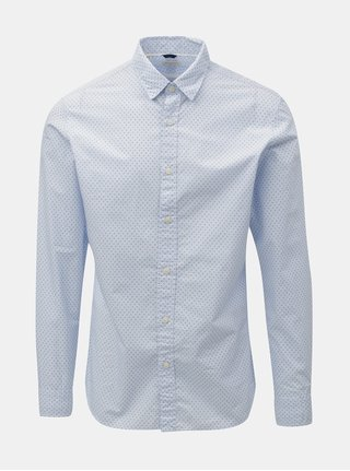 Svetlomodrá vzorovaná slim fit košeľa Selected Homme