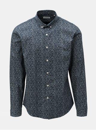 Bielo-modrá vzorovaná košeľa Lindberg