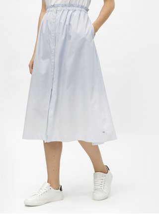 Modro-bílá pruhovaná sukně na knoflíky Tommy Hilfiger