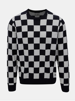 Bielo-modrý kockovaný sveter Original Penguin Checkboard