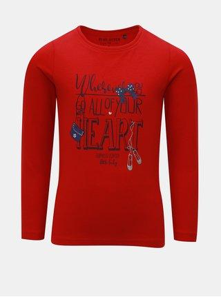 Červené dievčenské tričko s potlačou Blue Seven