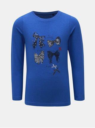 Modré dívčí tričko s potiskem Blue Seven