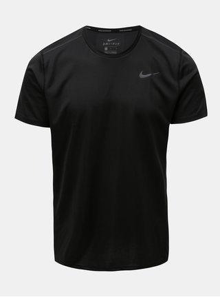 Čierne pánske funkčné tričko Nike Miler