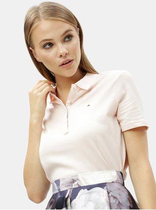Světle růžové dámské polo tričko Tommy Hilfiger