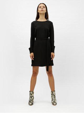 Černé šaty s dlouhým rukávem VERO MODA June