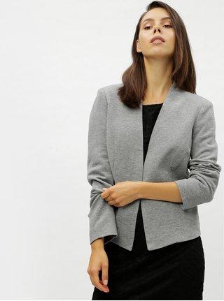 Šedé žíhané sako s kapsami VERO MODA Gail