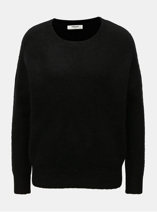 Pulover negru din lana oversized Moss Copenhagen