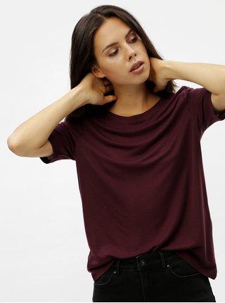 ab156ae287d5 Vínové basic tričko s okrúhlym výstrihom VERO MODA Ecie