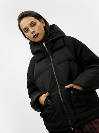 Černá zimní bunda Moss Copenhagen Filia