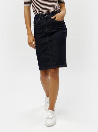 97209b090310 Tmavomodrá rifľová puzdrová sukňa VERO MODA Hot