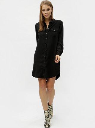 Černé košilové šaty s kapsami VERO MODA Silla