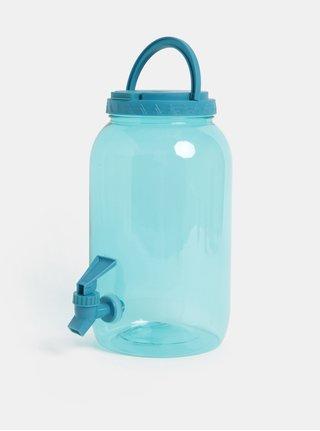 Modrá plastová priesvitná nádoba s kohútikom Kaemingk 3750 ml