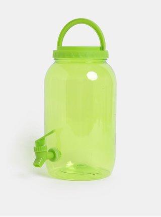 Zelená plastová priesvitná nádoba s kohútikom Kaemingk 3750 ml
