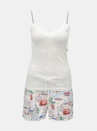 Světle šedé dvoudílné pyžamo Cath Kidston