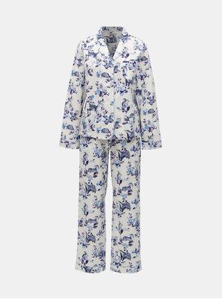 Modro-bílé dámské vzorované dvoudílné pyžamo Cath Kidston