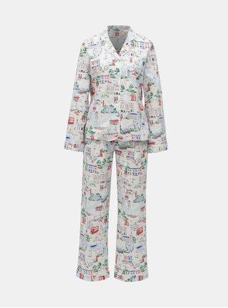 Svetlosivé dámske vzorované dvojdielne pyžamo Cath Kidston