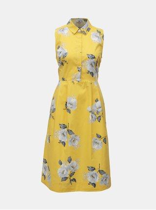 Žlté kvetované šaty bez rukávov Cath Kidston