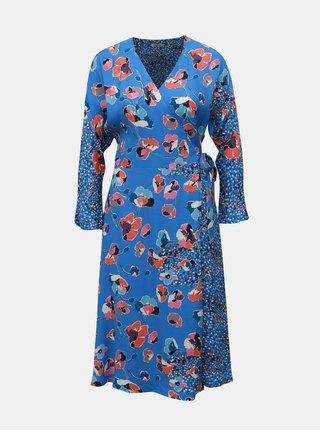 Modré dámské vzorované zavinovací šaty Cath Kidston