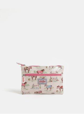 Krémové dievčenské puzdro so vzorom poníkov Cath Kidston