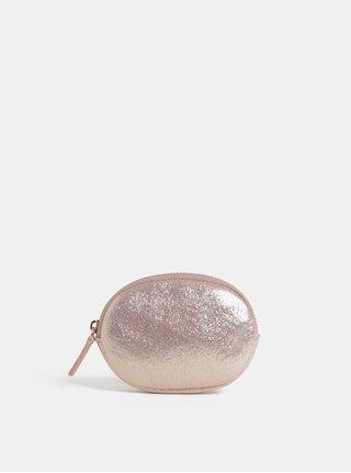 Svetloružová ligotavá peňaženka na mince Cath Kidston