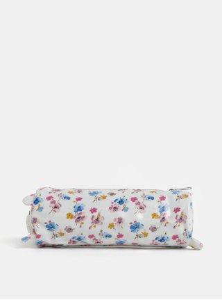 Biely dievčenský kvetovaný peračník v tvare medvedíka Cath Kidston