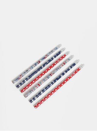 Sada šesti klučičích tužek s motivem aut Cath Kidston