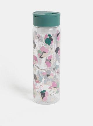 Plastová láhev s filtrem na ovoce a zeleným víčkem Cath Kidston 700 ml