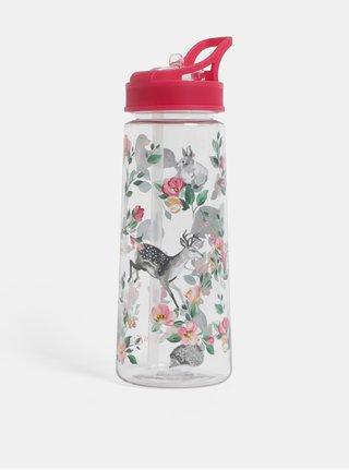 Plastová láhev s brčkem a motivem lesních zvířat Cath Kidston 700 ml