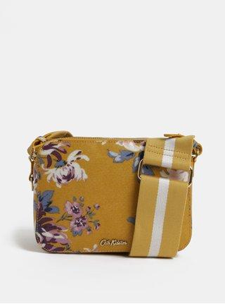 Horčicová dámska kvetovaná kabelka Cath Kidston
