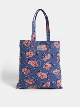 Růžovo-modrá dámská květovaná taška Cath Kidston