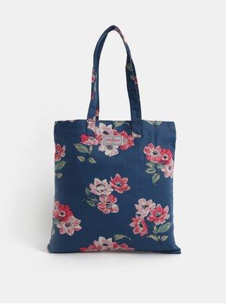 Tmavomodrá dámska kvetovaná taška Cath Kidston