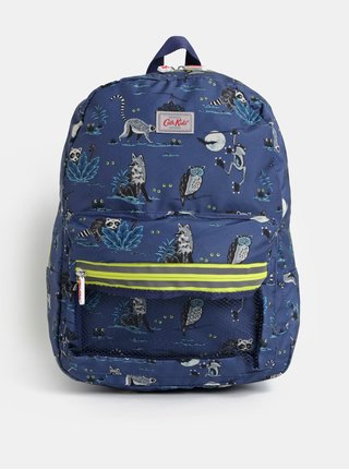 Tmavomodrý chlapčenský batoh s motívom zvieratiek Cath Kidston