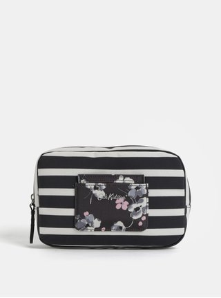 Krémovo-čierna dámska kozmetická taška Cath Kidston