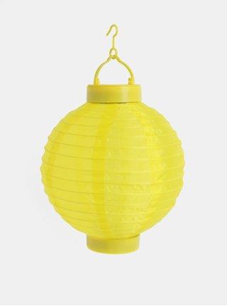 Žltý solárny lampión Kaemingk