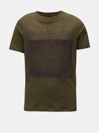 Kaki chlapčenské tričko s potlačou LIMITED by name it