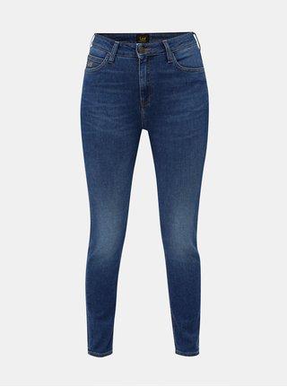 Modré dámské skinny džíny s vysokým pasem Lee