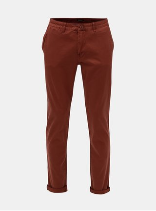 Pantaloni barbatesti stretch chino maro Garcia Jeans